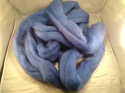 Hand Dyed Roving  25% Off SALE Delphinium Blue 100g