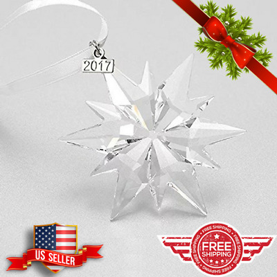 2017 ANNUAL EDITION CHRISTMAS ORNAMENT STAR SNOWFLAKE CRYSTAL 2.79in x 2.79inch