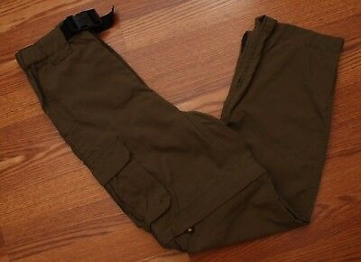 Boy Scouts Switchback Uniform Pants Size Youth Medium Supplex Nylon Green Belted