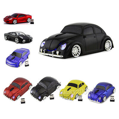 2.4Ghz Wireless Car Optical Mouse PC Laptop Computer Mice +USB Receiver AU Local