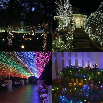 Solar LED Light String Hanging Curtain Light Christmas Outdoor Party Light L7T