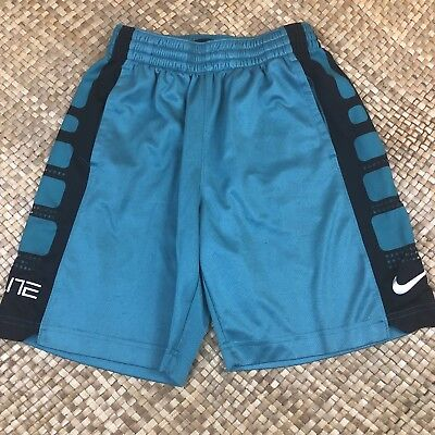 Nike Shorts Boys Size Medium M Blue Dri Fit basketball Running Jogging Box U