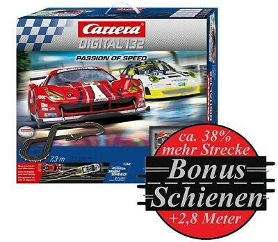 Carrera Digital 132 Passion of Speed --SPARSET-- incl. Bonus-Schienen