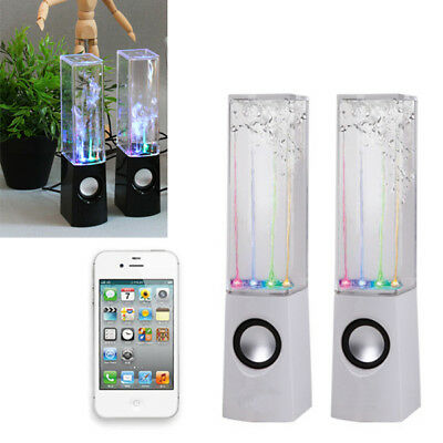 2X LED Dancing Water Light Speakers Show Music Fountain for Phones Computer Lamp