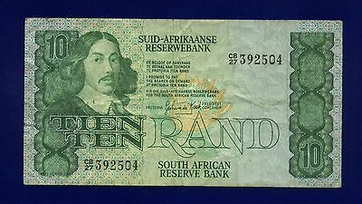 South  Africa  10 Rand 1982-85 PIC120C VG/FINE  ES-1