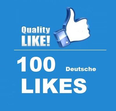 100Echte ★ Deutsche FacebookLikes ★ High quality Service