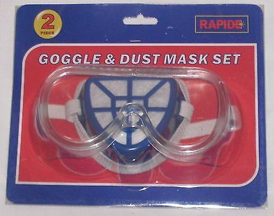 2pc Safety Goggles And Dust Mask Filter Set Builders DIY PPE.