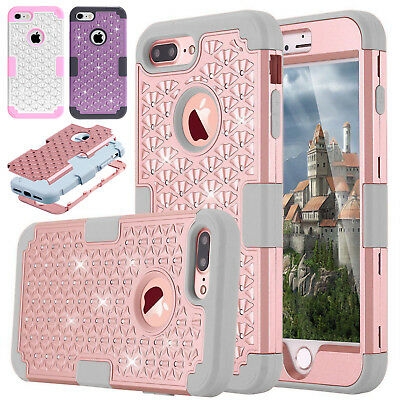 iPhone X 7 8 6 Plus Hybrid Heavy Duty Shockproof Full-Body Protective Case Cover