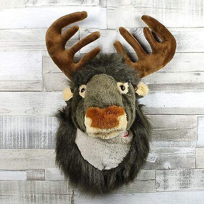 Christmas Xmas Singing Reindeer Head Hanging Soft Plush Stag Wall Decoration UK