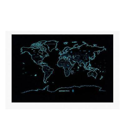 Large Size Luminous Travel Edition Scratch Off World Map Poster Personalized Log