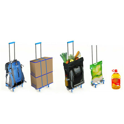 Portable Folding Shopping Cart Trolley Case Luggage Market Cart Collapsible E4Y