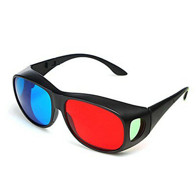 3D Glasses Red Blue Frame For Dimensional Anaglyph Movie DVD Game Private cinema