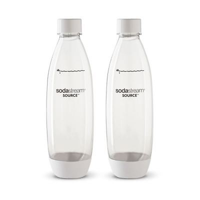 SodaStream - Twin Pack of BPA Free Drink Bottles 1Ltr Fuse White