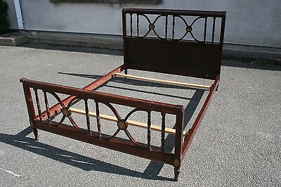 Bed mahogany stamped Maurice HIRCH (Hirsch) - French furniture - Bed