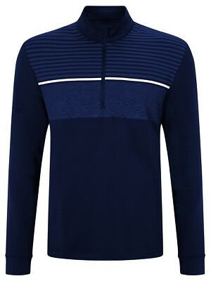 Callaway 1/4 Zip Chest Striped Pullover