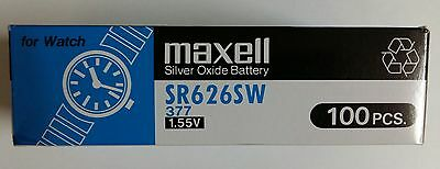 5 pcs New Maxell SR626SW (377) Battery -(Free Shipping Worldwide) EXP.Date: 2020