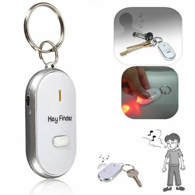 Funny Anti-Lost Key Finder Locator Keychain Whistle Beep Sound Alarm LED Torch