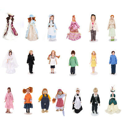 1:12 Scale Dollhouse Accessories Miniature Family Member Dolls People Figures