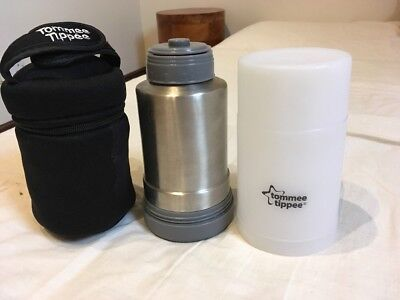 Tommee Tipper Bottle Warmer Flask And Insulated Bottle Bag