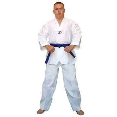 Taekwondo Uniform Martial Arts Gi - WHITE All Sizes HI QUALITY 8oz Free Belt