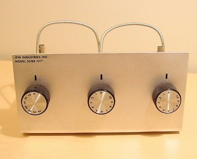 JFW Industries 50BR-017 Bench Top Rotary Attenuator 50 Ohm 81dB 0.1dB Step 1 GHz