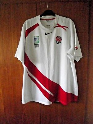 England Rugby Union Football Shirt Jersey Nike size XXL 47/48 World Cup 2007