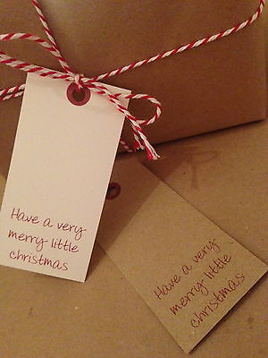 12 Vintage//Retro//Rustic Personalised Christmas Tags Present Parcel Label Gift