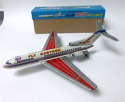 Boeing 727 Jet Lines-Fly Eastern, MARUSYO Japan, Blech/Litho, Friction, O-Karton