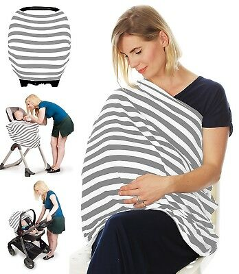 Stretchy 4 in 1 - Car Seat Cover Canopy and Nursing Cover Scarf, Multi Use as a