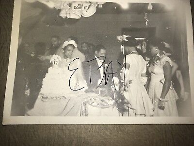 African American Photos Wedding Vintage 1950's 5x7 We Done It