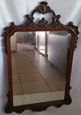 Antique Ornate 1920s Mirror (Matches 1920 Mahogany Chest and Dresser)