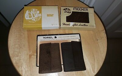 LOT OF 4 TOREL~ MEEKER Vintage Texas MADE IN USA Fine Leather KeyChain Wallets
