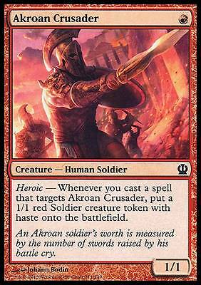 MTG Akroan Crusader +40 Theros Block Magic the Gathering Cards