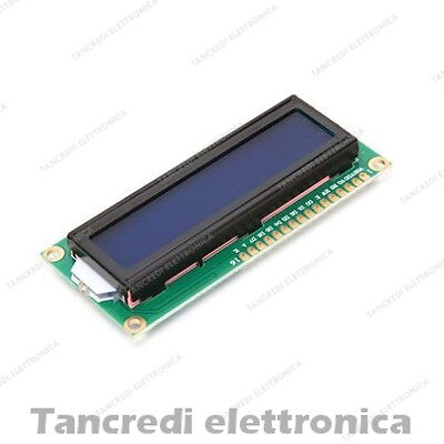 Modulo display LCD 16x2 1602 con retroilluminazione BLU 1pz Arduino shield