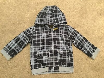 Boys Navy And Blue M&s Hoodie/fleece/cardigan/coat/jacket Age 18-24 Months
