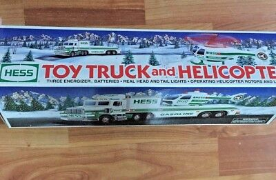 HESS 1995 Toy Truck and  Helicopter ~ complete in box (helicopter nonfunctional)