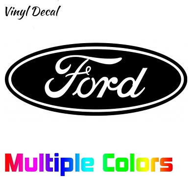 Ford Logo Decal | No Background Sticker for Mustang, F150, Ranger, Focus
