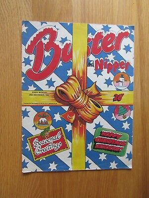BUSTER COMIC (CHRISTMAS ISSUE!) 26th December 1987. Novel 30th Birthday Present!