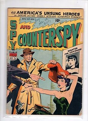 Spy and Counterspy 2 Good+ 2.5 GGA ACG Adventure and Cold Spy War Stories