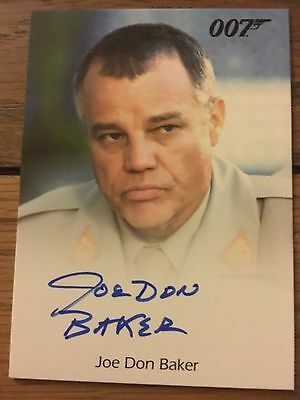 James Bond 2016 Spectre Edition Autograph Card Joe Don Baker as Brad Whitaker