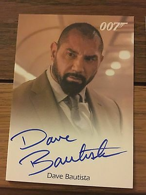 James Bond 2016 Spectre Edition Autograph Card Dave Bautista as Mr Hinx