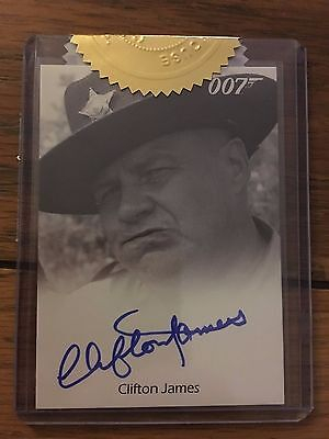 James Bond 2016 Spectre Autograph Card Archive Box Exclusive Clifton James