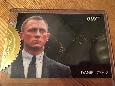 James Bond Classics 2016 Autograph Card Gold Signature Series Daniel Craig