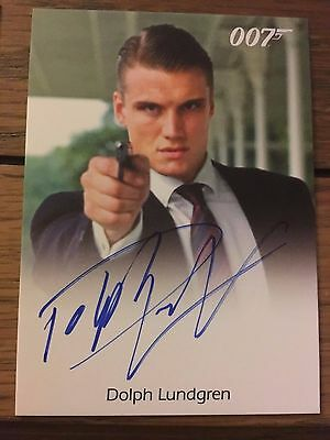 James Bond 2016 Spectre Edition Autograph Card Dolph Lundgren as Venz