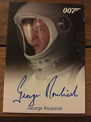 James Bond 2016 Spectre Edition Autograph Card George Roubicek as Astronaut