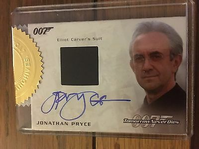 James Bond 2016 Spectre Autograph Costume Card Jonathan Pryce 139/250