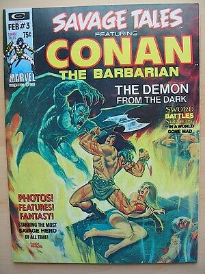 SAVAGE TALES 3 Marvel Comics Conan the Barbarian FINE 1974 Barry Smith Red Nails