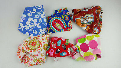 Scrub Cap Lot of 6 Pony Tail Style Coffe Paisley Polka Dot Mittens Mixed Brands