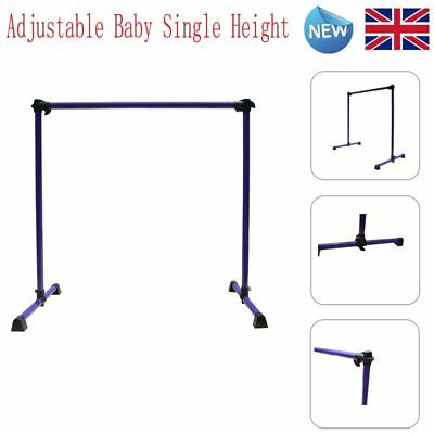 Adjustable Baby Single Height Ballet Barre Bar Portable Freestanding Dance Fitne