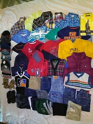 Boys Lot 45 Winter Jeans/Pants/L/S Shirts/Sweaters/Hoodie/Gloves/Caps/Shoes  5/6
